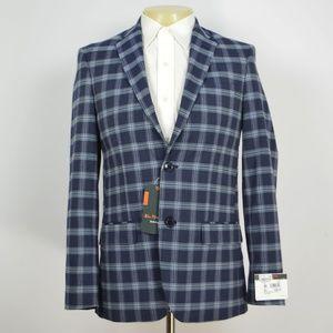 NWT BEN SHERMAN Slim  Blue Blazer Sport Coat 36R
